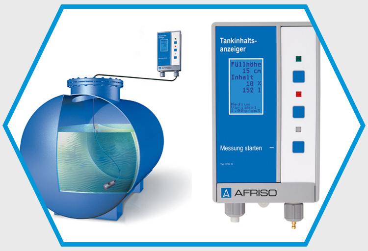 Messung per Ultraschall, kapazitiv oder per Druck